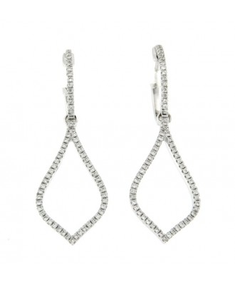 CRUISE, pendientes de oro blanco con diamantes
