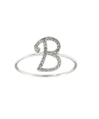 BORDEJO, anillo de oro blanco con diamantes