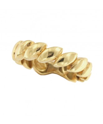 Anillo TULAY en oro amarillo de 18 kilates con gallones