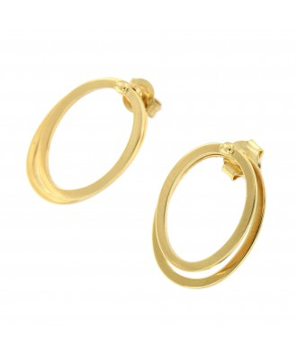 Pendientes NADINE en oro doble argolla movible y desmontable