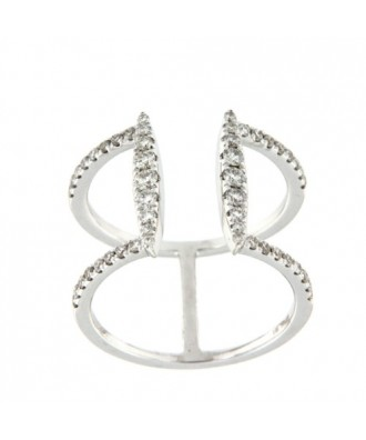 JUREL, anillo de oro blanco con diamantes