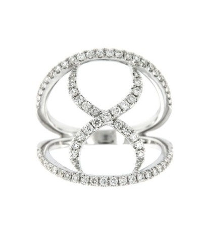 ABISSINIA, anillo de oro blanco con diamantes
