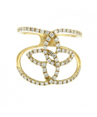 AVALON, anillo de oro amarillo con diamantes