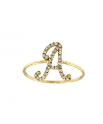 BECASINA, anillo de oro amarillo con diamantes