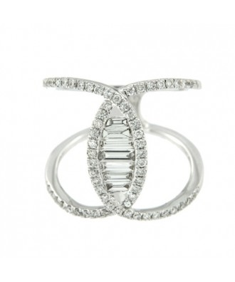 ABSALON, anillo de oro blanco con diamantes