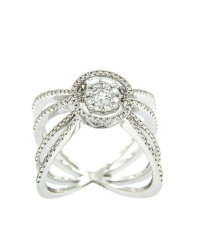 MAJESTIC, anillo de oro blanco y diamantes