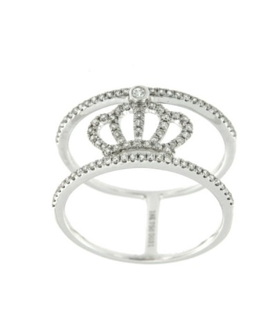 MAJESTY, anillo de oro blanco con diamantes
