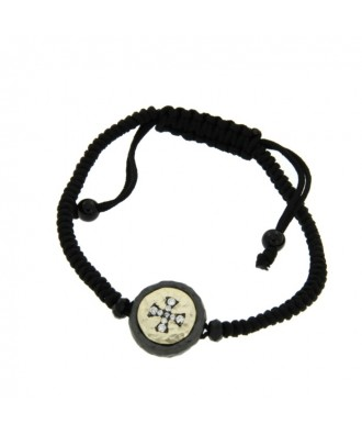 CHAUCER, pulsera de plata con macrame.