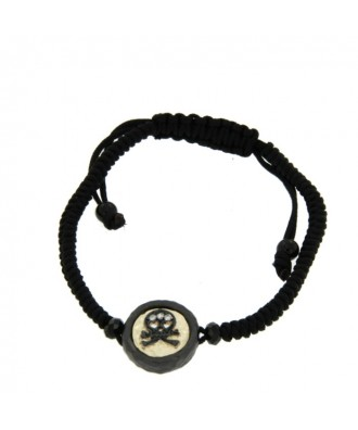 CERVANTES, pulsera de plata con macrame.