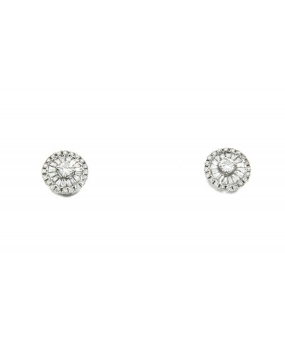 CATARSIS, pendientes de oro blanco con diamantes