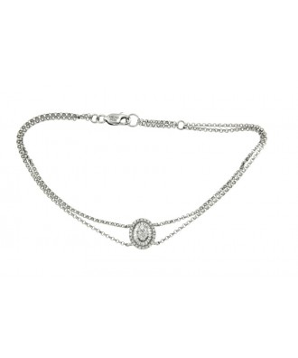 CHANDON, Pulsera de oro blanco y diamantes