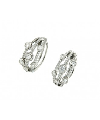 BROCAL, pendientes de oro y diamantes