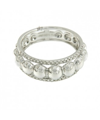 Anillo en oro blanco de 18 kilates con diamantes